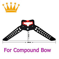1X Kick Stand Archery Compound Bow Holder Shooting Range Protection Black 18CM