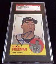 FREDDIE FREEMAN 2012 TOPPS HERITAGE Autographed Signed Baseball Card SGC 53