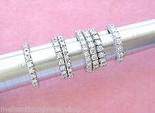 VINTAGE MID-CENTURY 1.55ctw DIAMOND PLATINUM ETERNITY BAND RING 1950 size 8.75