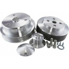 C4 Corvette 1988-1991 Power and AMP Polished Aluminum Pulley System