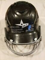 All Star Baseball Softball Batting Helmet Black With Face Mask 6 1/2 -7 3/4