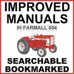 IH Farmall 504 Tractor Operators Owner Manual & Repair Shop Manual -2- MANUALS