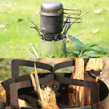 Outdoor Portable Survival Wood Stove Furnace Camping Picnic Cook Windshield