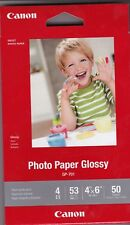 "Canon Photo Paper Glossy 4"" x 6"" 50 sheets NEW"