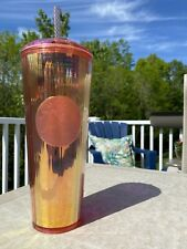 Starbucks Iridescent Rose Gold Tumbler 2020 Summer Limited Edition NEW IN HAND