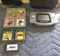 Game Boy Advance Bundle Case 7 Games Tested Works Great Screen Scratched