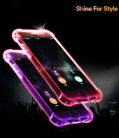 Shockproof For IPhone6/7/8Plus X/XS/XS Max Soft shell call flash Back Cover Case