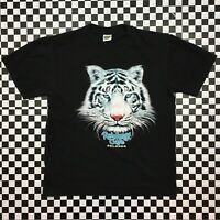 VTG 90s Rainforest Cafe Orlando White Tiger Souvenir T Shirt Adult Size M Black