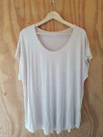 LANDS' END Women's Plus T-Shirt Short Sleeve Scoop Neck Stretch.Size 2X 20W-22W