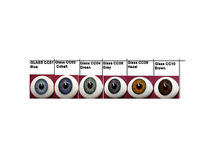 SPECIAL 3 PR. Oval flat back Glass Eyes 45.00 with FAST, FREE SHIPPING