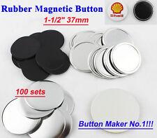 "1-1/2"" 37mm 100sets Freezer Sticker Rubber Magnetic Badge Button Make Hot sale!"