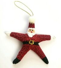 Vintage Starfish Santa Claus Christmas Ornaments