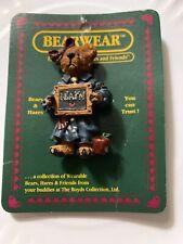 Boyds Bearwear Lapel Pin Ms Bruin Learn Teacher pin gift accessory