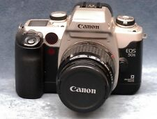 CANON EOS 50E FILM CAMERA W/CANON 35-80MM ZOOM LENS & CAP - JAPAN
