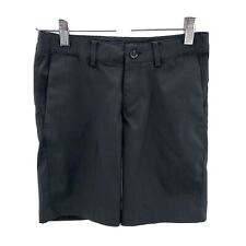 Nike Golf Boys Size Small Flex Shorts Adjustable Waist Black Dri-Fit Stretch
