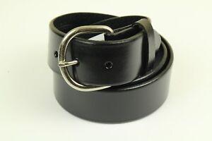 "Hired Hand Men's Black Genuine Leather Belt Width 1.5"""