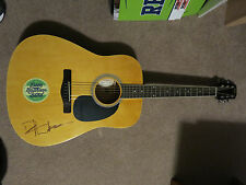 DAVE MATTHEWS SIGNED AUTOGRAPH ACOUSTIC GUITAR DMB BAND W/PROOF!!!!!!