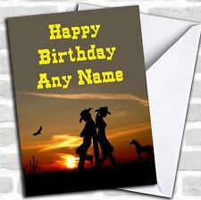 Western Cowboy & Cowgirl Birthday Customised Card