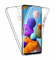 SDTEK Coque pour Samsung Galaxy A21s Full Body 360 Degres Protection