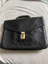 Chanel Vintage Leather Unisex Briefcase