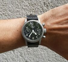 Tutima Flieger Chronograph 1941 German Luftwaffe Pilot's Watch Re-edition MINT