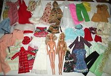 Large Group Lot Vintage Barbie Handmade Clothes & 2 Dolls Beauty Secrets +