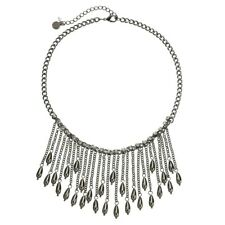 NEW! SIMPLY VERA WANG Necklace Jet Tone Fringe FREE SHIPPING! $34