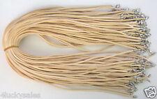 """Hot Wholesale Bulk lot 10pcs beige Suede Leather String 20"""" Necklace Cords"""