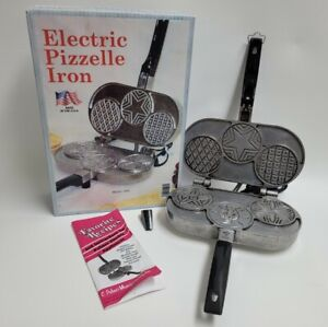 C. PALMER Electric PIZZELLE Iron Cookie Maker TESTED