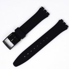 17 mm Black Standard Swatch Replacement Band Strap Free Shipping Worldwide
