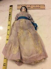 Edwardian/Victorian Era Porcelain Dressed & Decorated Doll 1880