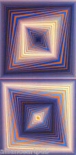 """BI-RHOMBS"" Rare Mint Op Art Serigraph s/n By Victor Vasarely"