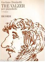 Donizetti: 3 Walzer Teile Für Klavier (Pestalozza) - Erinnerungen