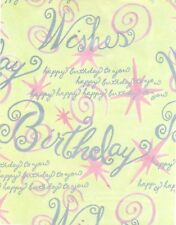 *NEW* BIRTHDAY GIFTWRAP YELLOW PINK & SILVER 800FT 206