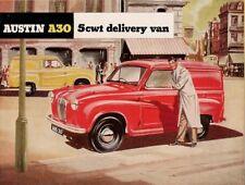 Austin A30 5cwt Van Early-Mid 1950s UK Market Foldout Sales Brochure