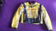 VALENTINO Rossi 46 vintage Bomb Boogie Giacca di Pelle Grande MAX 42 in (ca. 106.68 cm) sul petto in buonissima condizione
