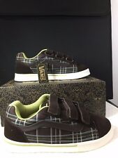 NEW VANS No Skool 3-Strap Espresso/Leaf Green Plaid US Size Women's US 9