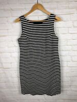 Stitch Fix Collective Concepts Womens Sleeveless Striped Dress Beaded Size M