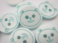 10 Baby Blue Bear Buttons 13mm (1/2 inch) Resin Animal Baby Boy Clothes Buttons