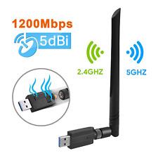 Maxesla USB Wifi Adapter 1200M Wifi Dongle High Speed 802.11ac 5dBi Dual Band OS