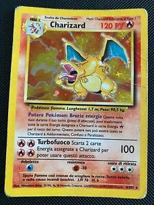 ITALIAN Base Set Charizard 4/102 Holo Rare Pokemon Card WOTC