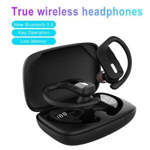 Wireless Bluetooth Earphones Headphones Earbuds Sports Ear Hook Run Headset New