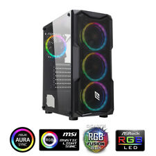 CASE ATX PC GAMING 4 VENTOLE DUAL HALO ADDRESSABLE FRONT MESH SIDE GLASS (S1)