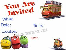 Chuggington Invitations with matching envelopes, birthday 12pack