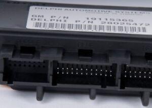 Body Control Module ACDelco GM Original Equipment 19115365