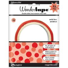 """1/8"""" Wonder Tape by Ranger. Double-sided, heat resistant, clear tape."""