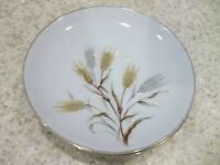 "4 Noritake Wheaton Bread & Butter Plates 6 1/4""  White Gold Silver Wheat Trim"