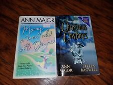Lot of 2 Ann Major Paperbacks, Marry a Man Who Will Dance, Christmas Cowboys