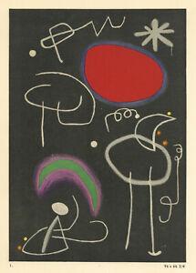 Joan Miro pochoir 7710129