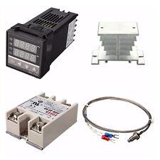 Digital 220V PID REX-C100 Temperature Controller + 40A SSR + K Thermocouple I2R1